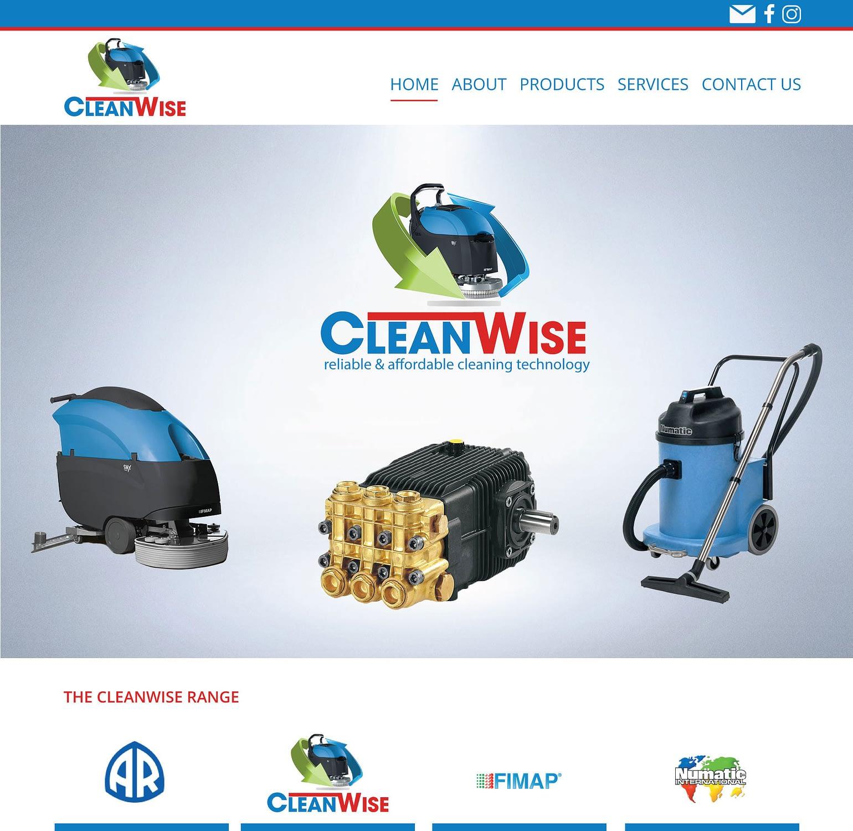 Cleanwise South Africa Portfolio GeekDimm Designs