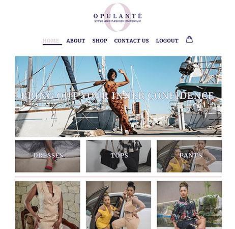 Opulanté website portfolio